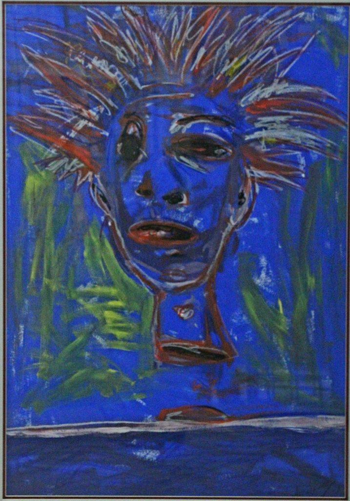 Glauber Balesteros (Cuba) 'Cabeza en azul'