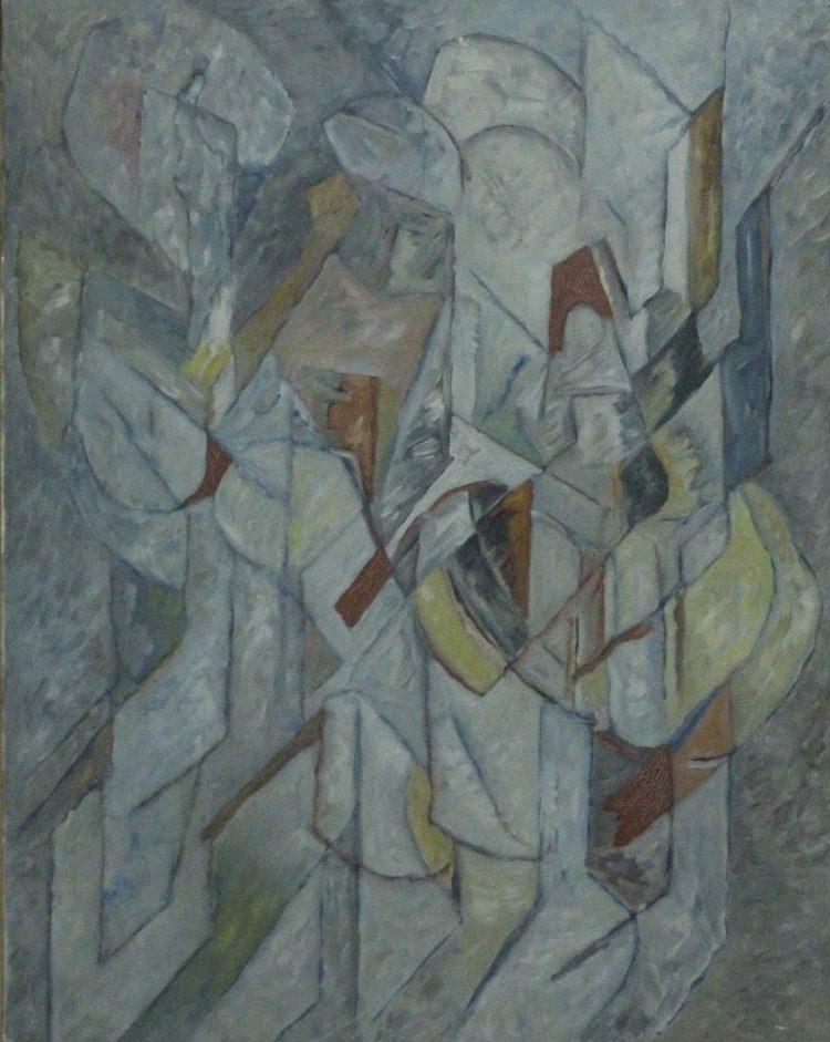 Augusto Barros (Portogallo) 'Certao' Olio su tela - 29x36,5'' - 74x93,5 cm - Anno 1981