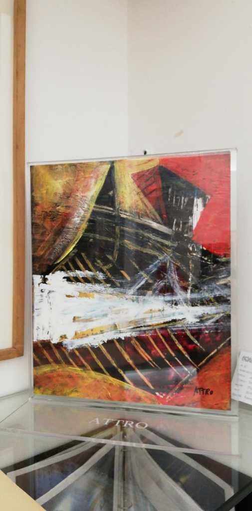 Attro -italia- finestra - smalto su tela in plexiglas - 27x33 cm - 2019
