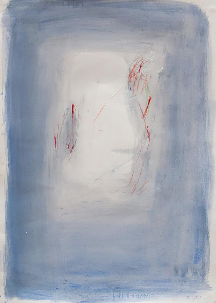 PUPILLO SALVATORE-Piani, 2019, acrilico su carta, cm 70x50